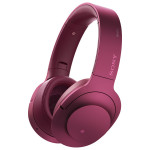 Casti on-ear cu microfon Bluetooth Hi-Res SONY MDR-100ABNP, Wireless, Noise-canceling, roz