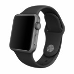 Bratara pentru APPLE Watch Seria 1, 42 mm, silicon, black