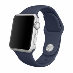 Bratara pentru APPLE Watch Seria 1, 38 mm, silicon, midnight blue