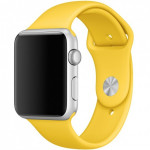 Bratara pentru APPLE Watch Seria 1, 42mm, silicon, yellow
