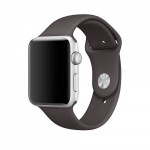 Bratara pentru APPLE Watch Seria 1, 42 mm, silicon, cocoa