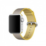 Bratara pentru APPLE Watch Seria 1, 38 mm, nylon, galben-gri