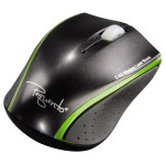 Mouse Wireless laser HAMA Pequento 2, USB, negru/verde