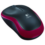 Mouse Wireless LOGITECH M185, 1000dpi, rosu