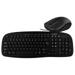 Kit tastatura si mouse cu fir MYRIA MY8517, USB, negru