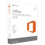 Microsoft Office Mac Home and Business 2016, 1PK 2016 English EuroZone Medialess