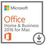 Licenta electronica ESD Microsoft Office Mac Home and Business 1PK  2016, AllLng EuroZone PKLic Onln DwnLd C2R NR