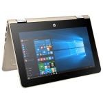 "Laptop 2 in 1 HP Pavilion x360 11-u001nq, Intel® Pentium® N3710 pana la 2.56GHz, 11.6"" Touch, 4GB, 500GB + 8GB cache, Intel® HD Graphics 405, Windows 10 Home"