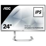 "Monitor LED IPS AOC Porche Design PDS241, 23.8"", Full HD, argintiu"