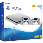 Consola SONY PlayStation 4 Slim, 500GB + DUALSHOCK 4 V2 Controler, Silver