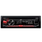 Radio CD auto JVC KD-R484, 1DIN, 4x50W, USB, iluminare rosie
