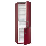 Combina frigorifica No Frost GORENJE RK6192ER, 324l , A++, rosu vulcanic