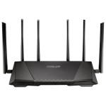 Router Wireless ASUS RT-AC3200, Tri-Band 600 + 1300 + 1300Mbps, USB 3.0, USB 2.0, negru