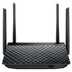 Router Wireless ASUS RT-AC58U AC1300, 400 + 867 Mbps, Gigabit, USB 3.0, negru