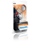Bec auto halogen PHILIPS W5W Vision, 12V, 5W, W2.1*9.5D T10, blister, 2 bucati