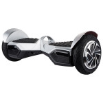 Scooter electric FREEGO W8, 8 inch, silver + geanta transport inclusa