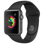 APPLE Watch Series 1 Sport 38mm Space Grey Aluminum Case, Black Sport Band