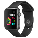 APPLE Watch Series 1 Sport 42mm Space Grey Aluminum Case, Black Sport Band