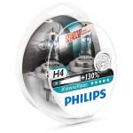 Set 2 becuri far PHILIPS X-Treme Vision 12342XVS2+, 130%, H4, 12V, 55W