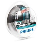 Set 2 becuri far PHILIPS X-Treme Vision 12972XVS2+, 130%, H7, 12V, 55W