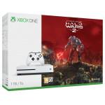 Consola MICROSOFT Xbox One S 1TB, alb + Joc Halo Wars 2