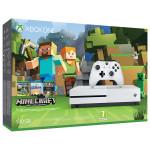 Consola MICROSOFT Xbox One Slim 500 GB, alb + Joc Minecraft Favourites (cod download)