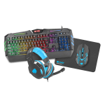 Kit tastatura, mouse gaming, casti gaming si mouse pad Fury