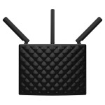 Router Wireless TENDA AC15, 600 + 1300 Mbps, Gigabit, USB 3.0, negru