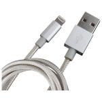 Cablu de date Lightning pentru iPhone, MYRIA MY9010SV, 1m, Argintiu