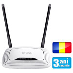 Router wireless TP-LINK TL-WR841N (RO), 300Mbps, WAN, LAN, alb - RO