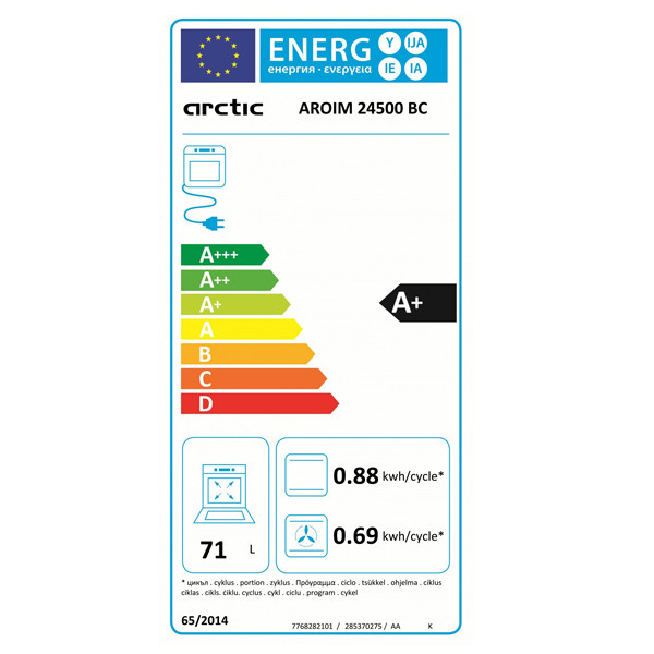 Cuptor Incorporabil Arctic Aroim24500bc Electric 71l