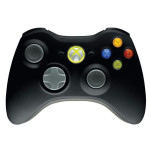 Controller Xbox 360 & PC MICROSOFT JR9-00010, adaptor PC, negru