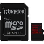 Card de memorie microSDHC 32GB KINGSTONE UHS-I clasa U3 + adaptor SD, R/90MB/s, W/80MB/s