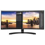 """Monitor LED IPS LG 34UC88-B, 34"""" Curved, UltraWide QHD, negru"""