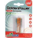 Acumulatori reincarcabili GOLDEN POWER MR9AAAEZJC2E, Ni-Mh, R3(AAA), 900mAh, 2 bucati
