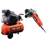 Compresor BLACK&DECKER BD 205/24 + Polizor BLACK&DECKER CD115