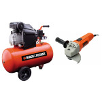 Compresor BLACK & DECKER BD 205/50 + Polizor BLACK&DECKER KG115