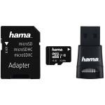 Multi Kit HAMA microSDHC 16GB Clasa 10, adaptor SD + USB reader
