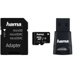 Multi Kit HAMA microSDXC 64GB Clasa 10, adaptor SD + USB reader