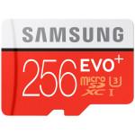 Card de memorie MicroSDXC EVO 256GB SAMSUNG  PRO+, Clasa 10 UHS-I + adaptor SD