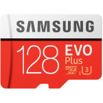 Card de memorie MicroSDXC EVO 128GB SAMSUNG  PRO+, Clasa 10 UHS-I + adaptor SD