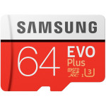 Card de memorie MicroSDXC EVO 64GB SAMSUNG  PRO+, Clasa 10 UHS-I + adaptor SD