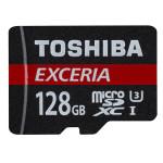 Card de memorie microSDXC TOSHIBA Exceria Clasa 10 UHS-I U3 R90MB/s 128GB + Adaptor