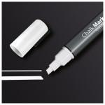 Marker SIGEL Chalk 50 GL181, 1-5 mm, alb