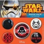 Set 5 Insigne Dark Side - Star Wars
