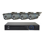 Kit supraveghere video PNI House IPMAX POE ONE 720P, NVR IP ONVIF, 4 camere exterior