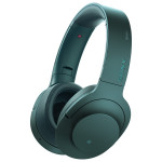 Casti on-ear cu microfon Bluetooth Hi-Res SONY MDR-100ABNL, Wireless, Noise-canceling, albastru