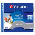 BD-R DL VERBATIM 43736, 6x, 50GB, printabil, 1buc