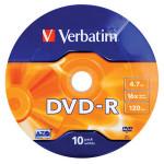 DVD-R VERBATIM 43729, 16x, 4.7GB, 10buc - Shrink