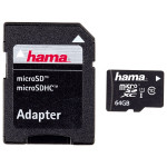 Card de memorie microSDXC 64GB Clasa 10 UHS-I + adaptor, HAMA 108075